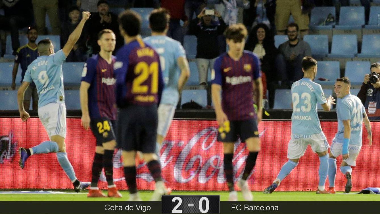Foto: Los suplentes del Barcelona no pudieron sacar un resultado positivo de Balaídos. (EFE)