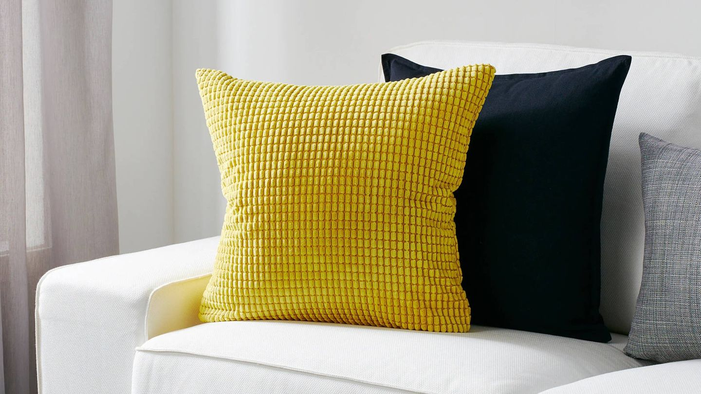 Cojines originales y cómodas de Ikea. (Cortesía)