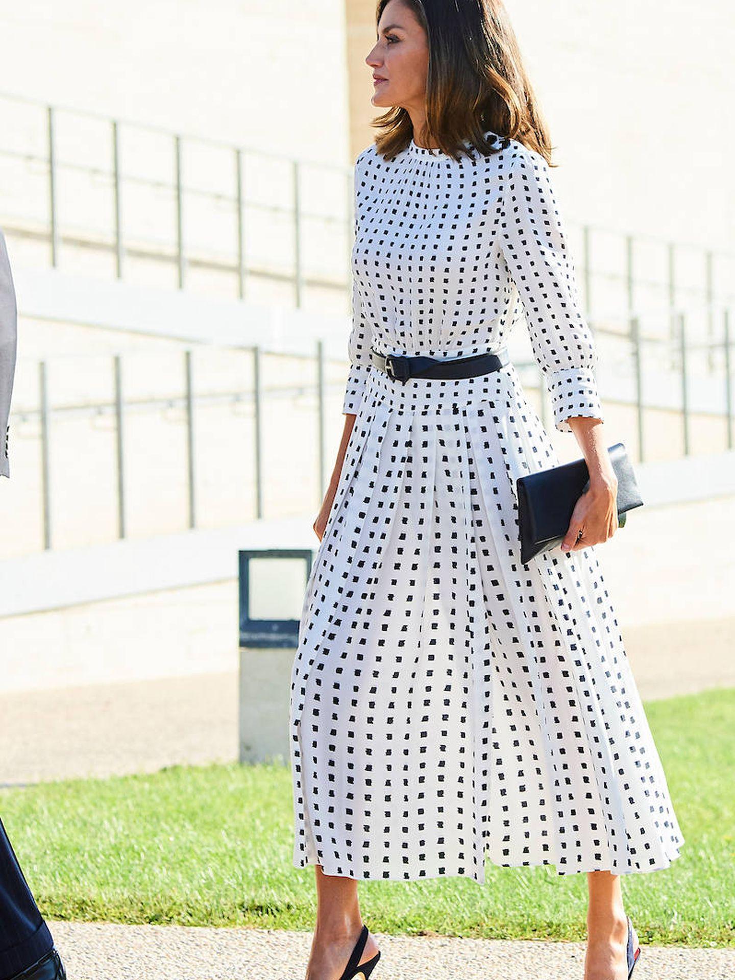 La reina Letizia en Villamayor. (Limited Pictures)