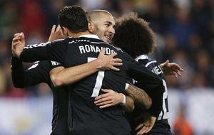 Cristiano rompe su racha en Liga, pero se convierte en el mejor socio de Benzema