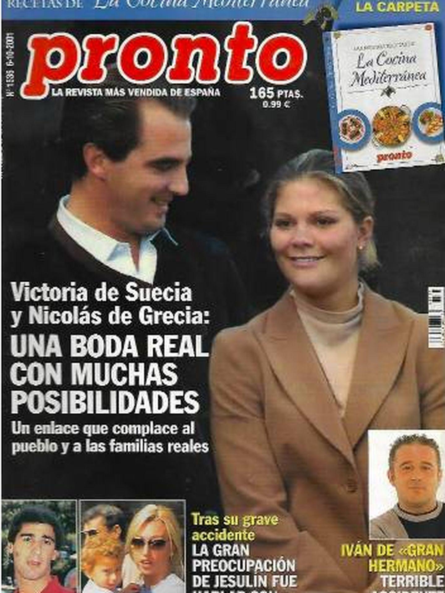 Portada de 'Pronto' de septiembre de 2001.