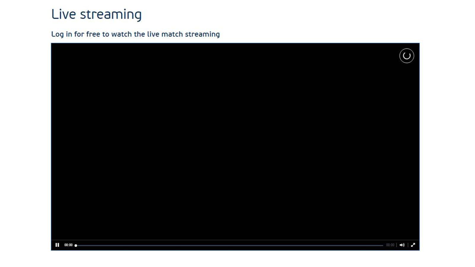 Foto: El 'streaming' del Albania-Suiza en Chrome.