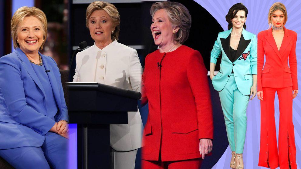 Efecto Hillary: vuelve el traje a todo color