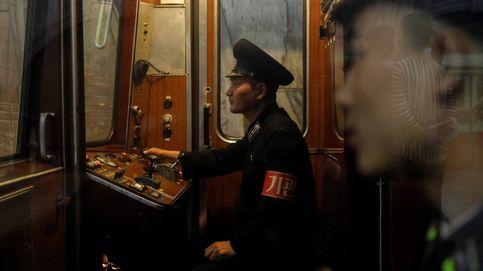 En el metro de Pyongyang