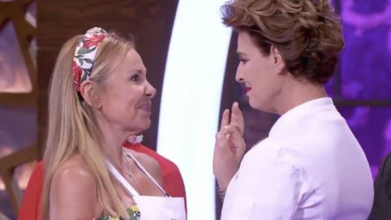 Ana Obregón y Antonia Dell'Atte, en 'MasterChef Celebrity'. (TVE)