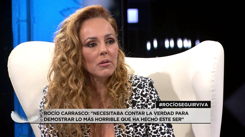 Rocío Carrasco, en el plató de Telecinco. (Mediaset)