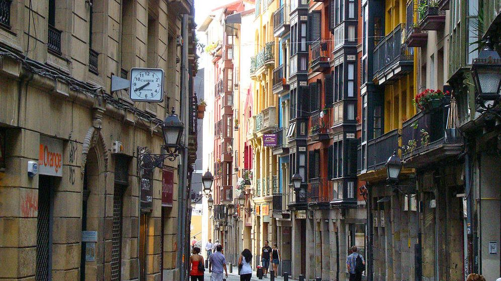 Foto: Calle del casco histórico de Bilbao