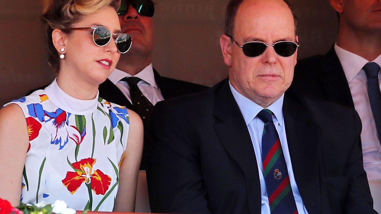 Alberto de Mónaco, con su hija. (EFE)