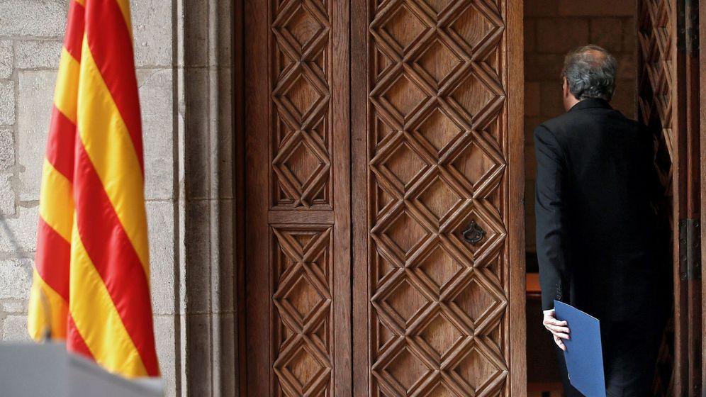 Foto: Torra, tras anunciar el adelanto electoral. (EFE)