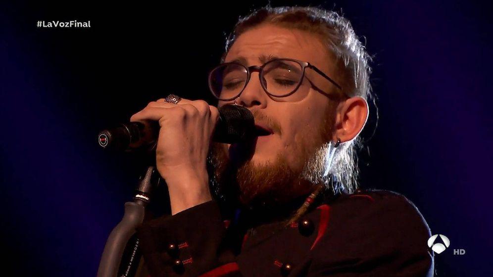 Foto: Andrés Martín, en la final de 'La Voz'. (Antena 3)
