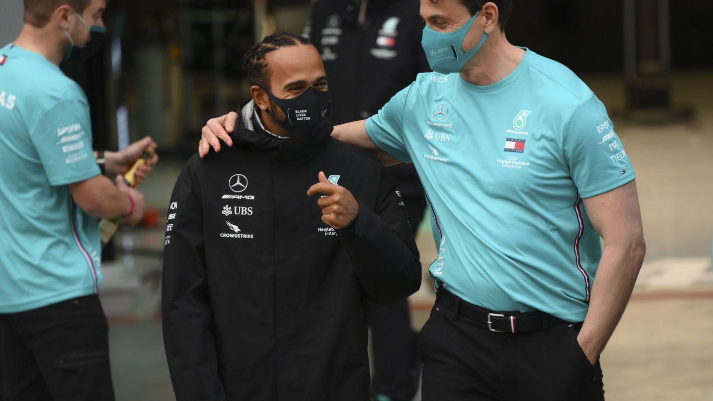 Aunque tuvieron sus problemas al comienzo de la relación, Hamilton siempre ha confiando en el liderazgo de Wolff para el equipo