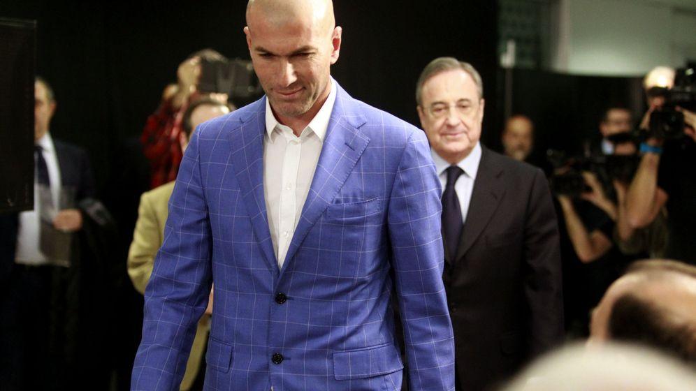 Foto: Zidane y Florentino en la presentación del técnico. (Foto: EFE)