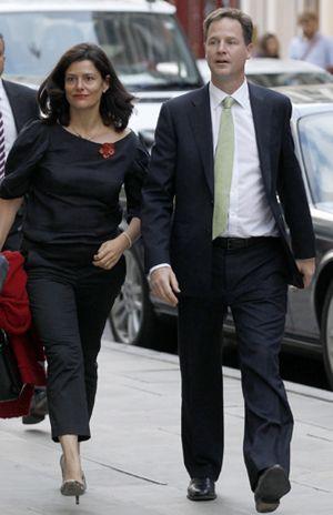 La esposa de Nick Clegg quiere parecerse a la reina Sofía