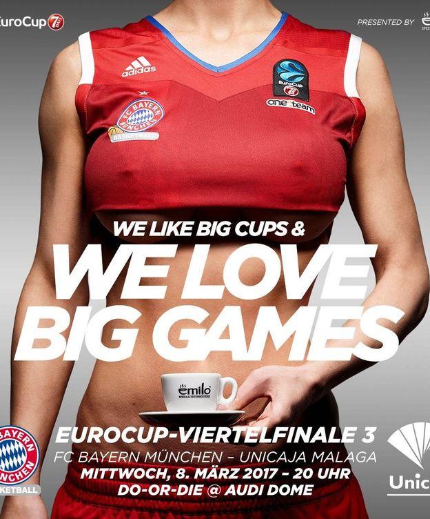 Foto: El polémico anuncio de Emilo que el Bayern ha promocionado.