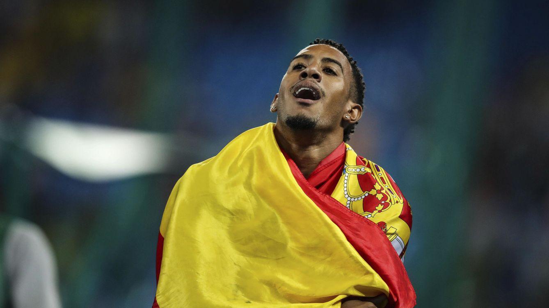 Foto: El atleta español Orlando Ortega tras lograr la plata en la prueba de 110 metros vallas en Río. (EFE)
