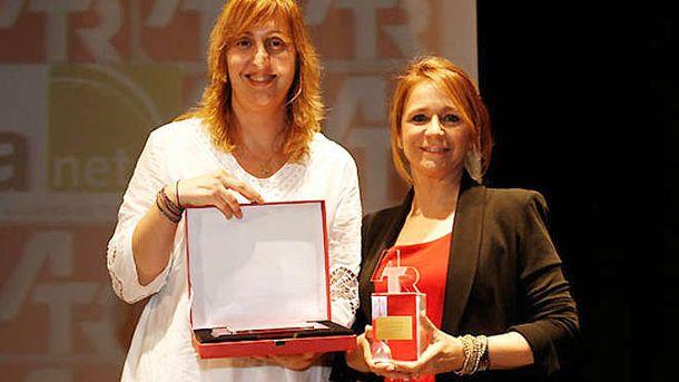 Foto: Elena Sánchez Pérez, a la izquierda, ha sido hasta ahora jefa de prensa de Ana Botella (RTVE).