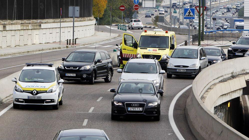 Foto: Accidente por colisión en la M-30. (EFE)