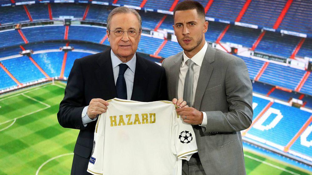 Foto:  Presentación de Hazard con el Real Madrid. (Getty)