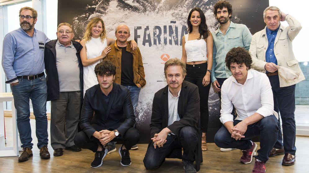Foto: Actores de 'Fariña', la nueva serie que prepara Antena 3. (Atresmedia Televisión)