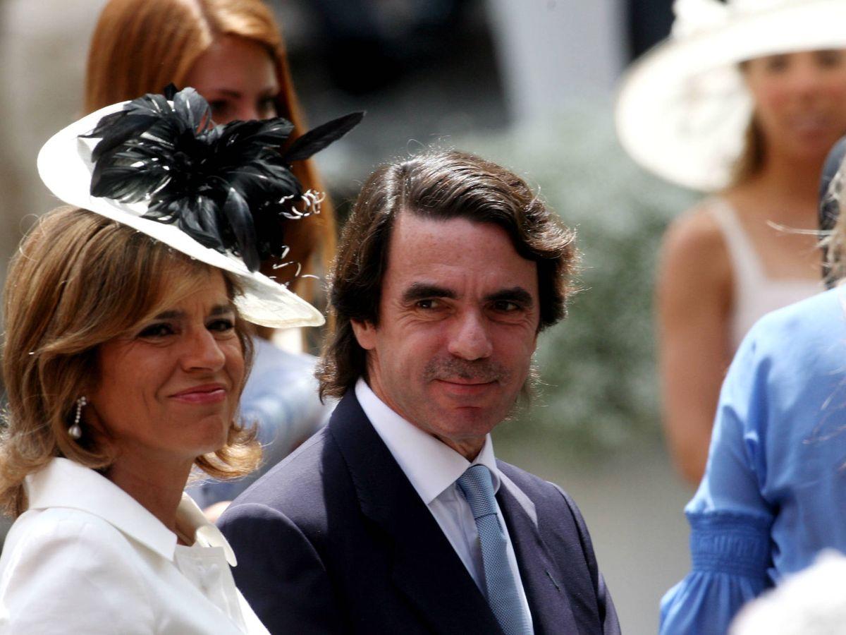 Foto: Ana Botella y José María Aznar, en la boda de Flavio Briatore. (Getty)