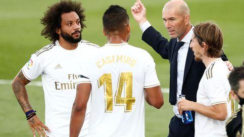 Zidane abroncó al equipo por relajarse durante la pausa, pero nadie le hizo caso