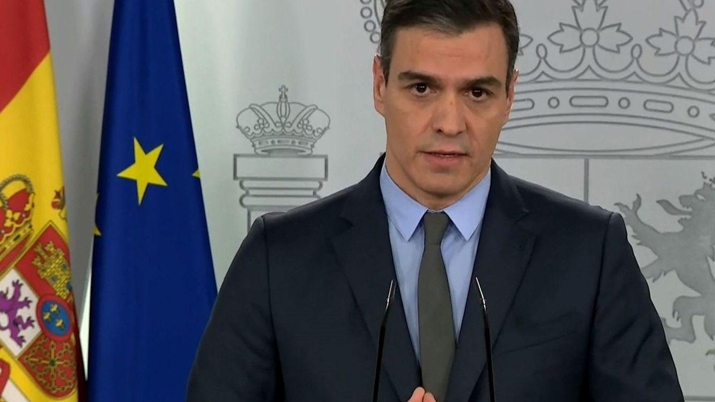 Foto: Pedro Sánchez en su rueda de prensa de este sábado. (EFE)