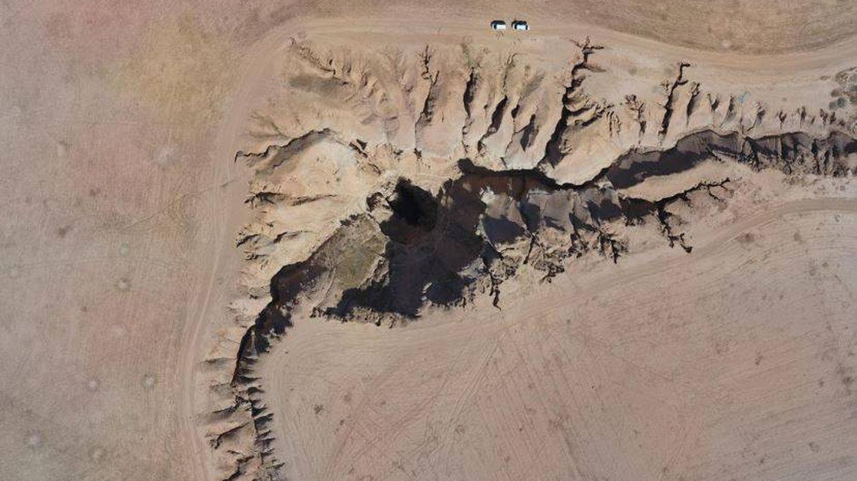Imagen del cañón de Al Hota (Siria) tomada desde un 'drone' (HRW)