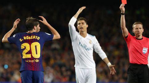 FC Barcelona vs Real Madrid en directo: expulsado Sergi Roberto