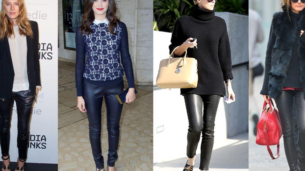 Los pantalones de cuero se han convertido en los nuevos jeans...