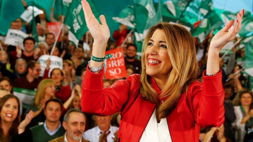 Foto: Susana Díaz en la recta final de las elecciones de Andalucía en 2018. (Reuters)