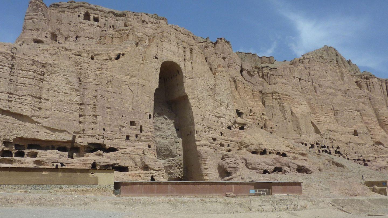 El lugar donde se encontraban los budas gigantes de Bamiyán, Afganistán, destruidos por los talibanes en 2001 (EFE)