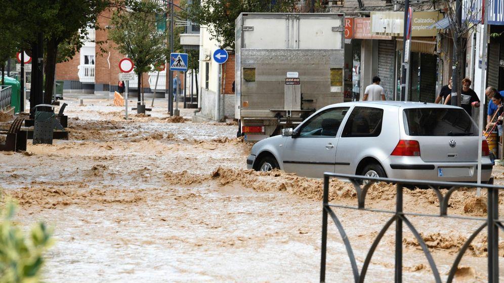 Foto: Arganda anegada por las lluvias el pasado 15 de septiembre. (EFE)