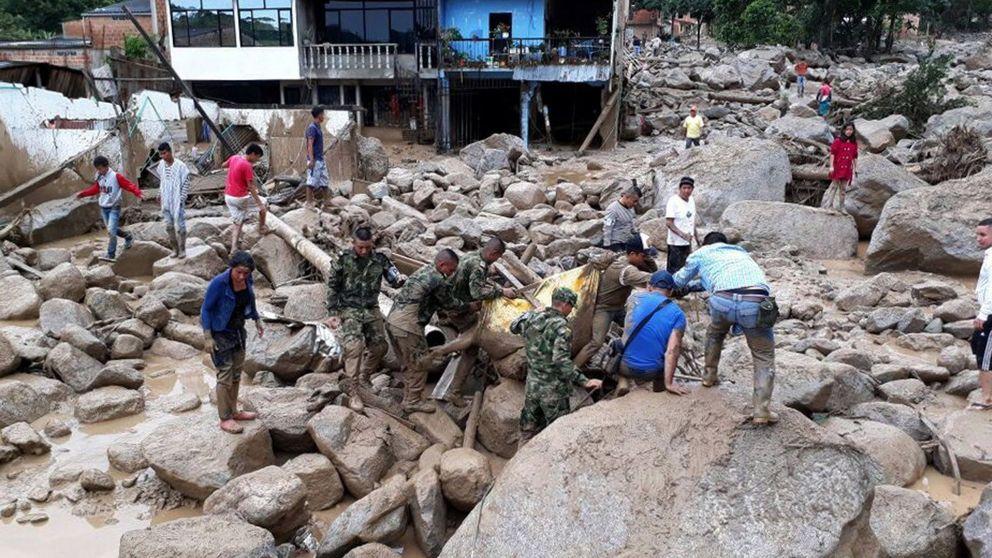 Al menos 234 muertos por una avalancha en el sur de Colombia