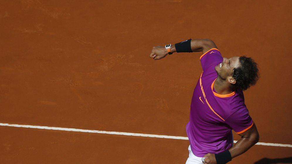 Foto: Nadal celebra su victoria contra Djokovic. (EFE)