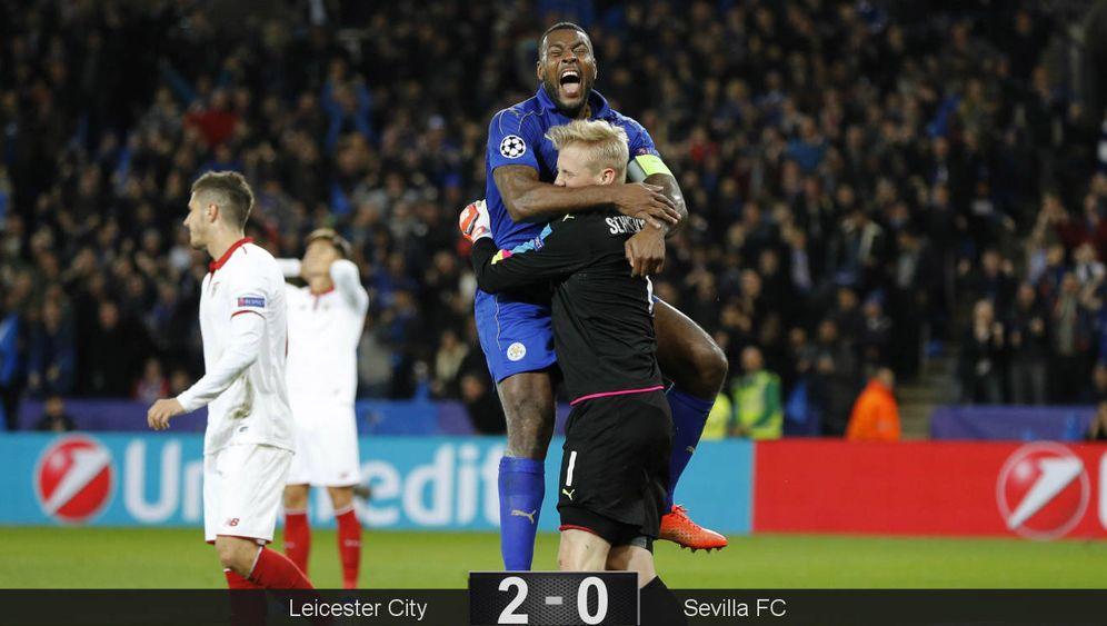 Foto: El Sevilla se despidió de la Champions League tras caer ante el Leicester City. (Reuters)