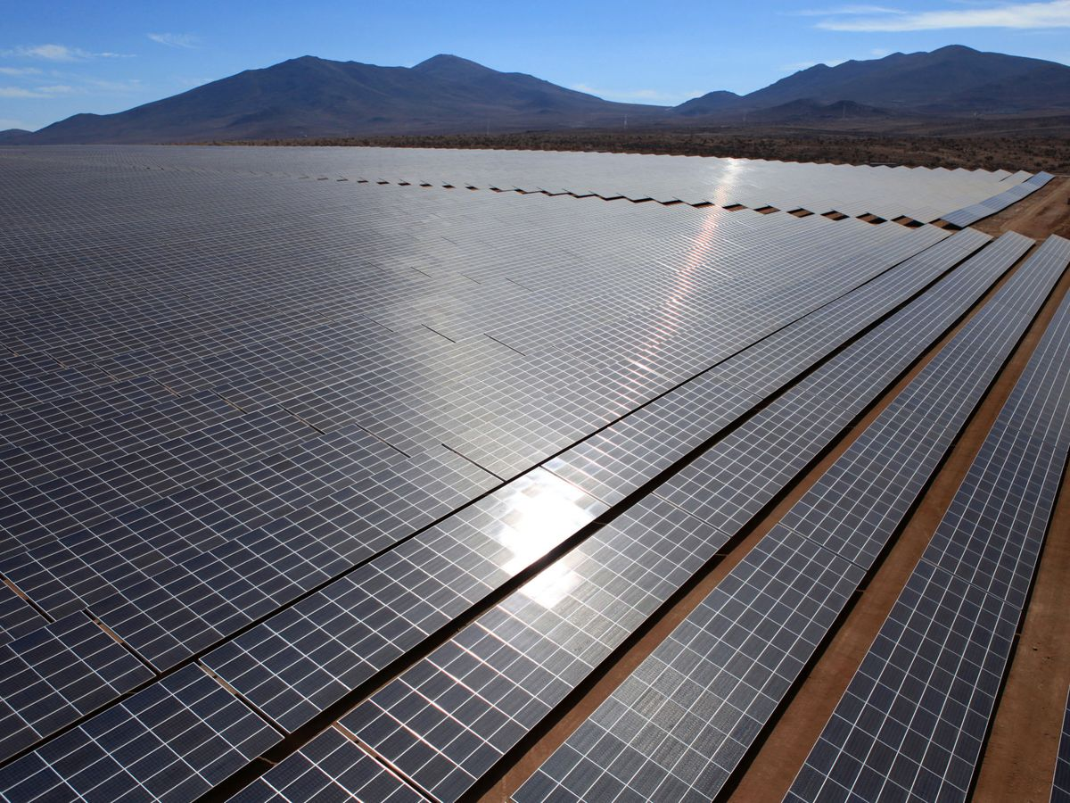 Foto: Planta solar fotovoltaica. (EFE)