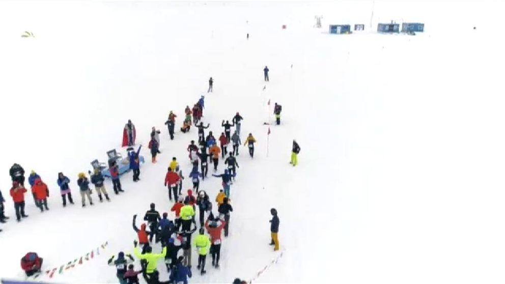 Un total de 57 valientes se atreven con la maratón más fría del mundo