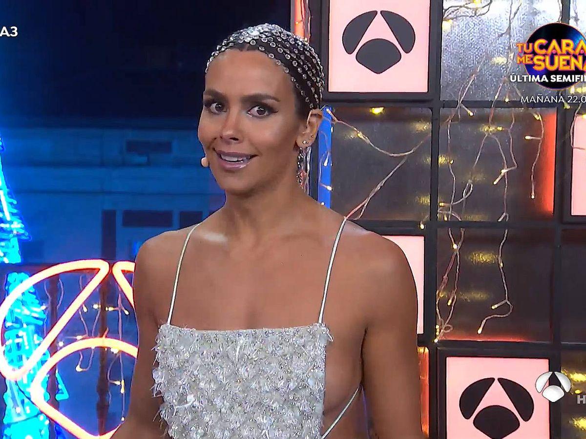 Foto: Cristina Pedroche, en las campanadas 2020 de Antena 3. (Atresmedia)