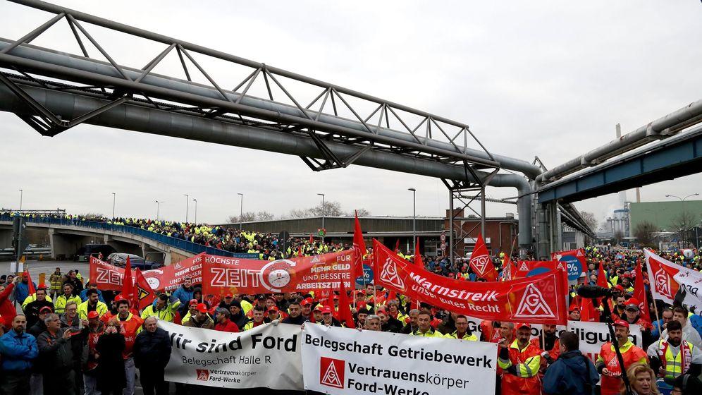 Foto: Huelga de los trabajadores de Ford en Colonia (Efe)