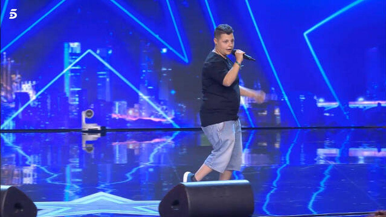 Samuel, en 'Got Talent'. (Mediaset)