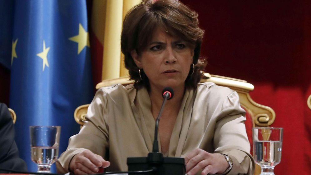 Foto: a ministra de Justicia Dolores Delgado, durante su intervención en la inauguración del X Congreso de Academias Juridicas y Sociales de Iberoamérica. (EFE)