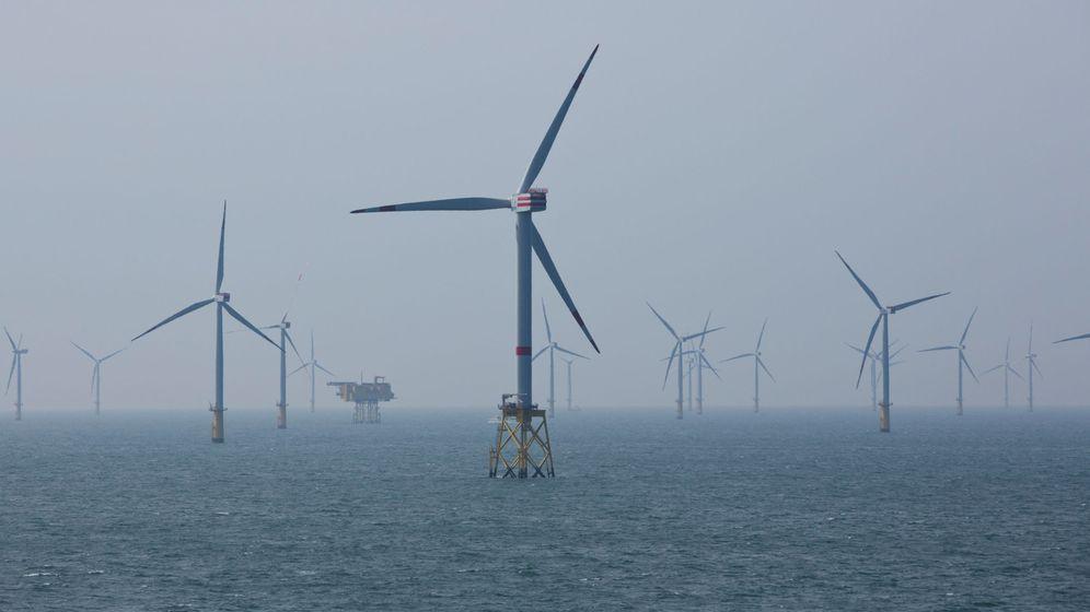 Foto: Molinos de aire en el mar. (Reuters)