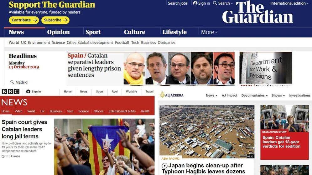 Foto: La sentencia del juicio del 'procés' llega a los medios internacionales (EC)