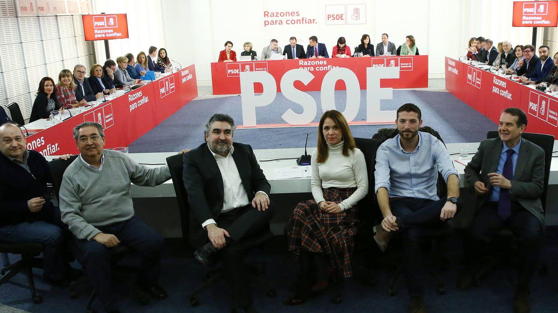 Vista panorámica de la ejecutiva federal del PSOE, presidida por Pedro Sánchez y reunida este 8 de enero en Ferraz en su primera cita de este año. (Inma Mesa | PSOE)