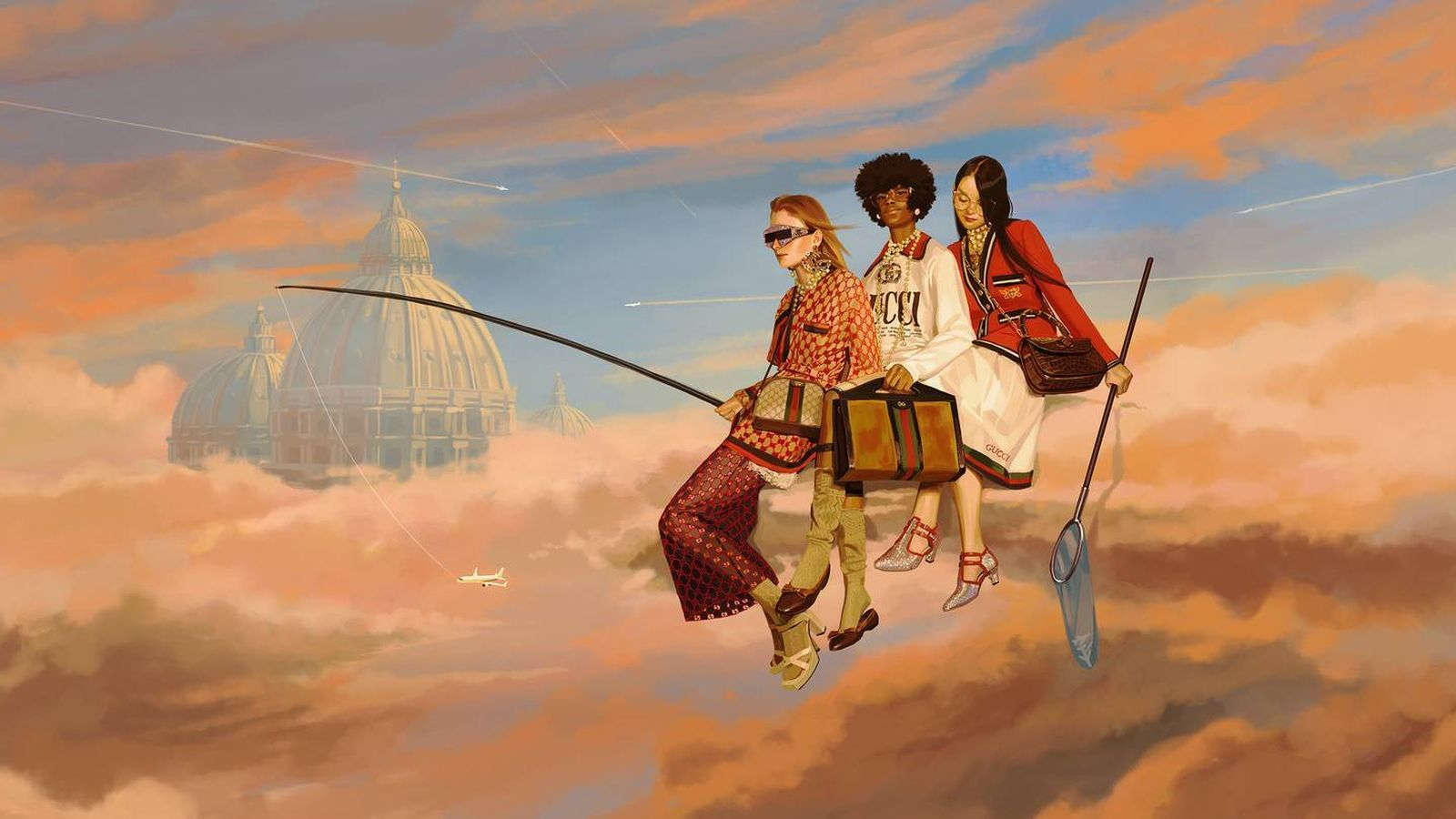 Foto: En la imagen, ilustración de Ignasi Monreal para la campaña primavera-verano 2018 de Gucci. (Imagen: Gucci)