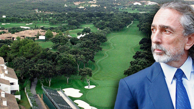 Francisco Correa en un fotomontaje realizado en Vanitatis sobre los campos de golf de Sotogrande.
