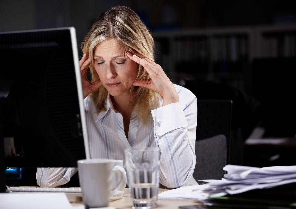 Foto: El estrés laboral es una gran fuente de problemas cardiovasculares. (Corbis)