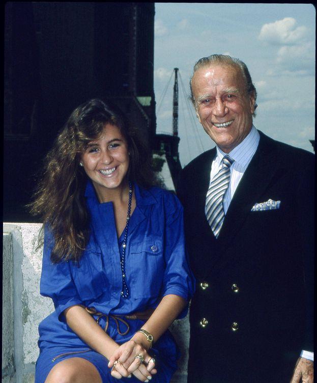 Foto: Aldo Gucci, con su hija Patricia. (Getty)