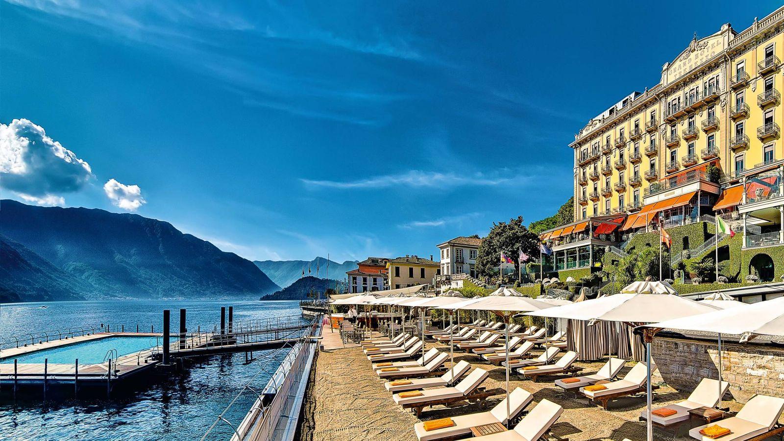 Foto: Un hotel con piscina y acceso al lago. Así es la terraza exterior del Grand Hotel Tremezzo. (Cortesía)