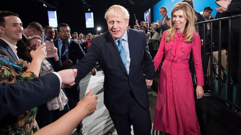 Boris Johnson y Carrie Symonds, en un acto juntos. (Reuters)